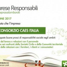 """CAES è una """"Impresa Responsabile"""" per la Regione Lombardia"""